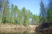 Река часто и очень круто поворачивает