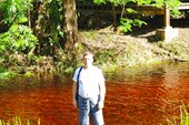 На реке в зоне отдыха, называемой `карбе`