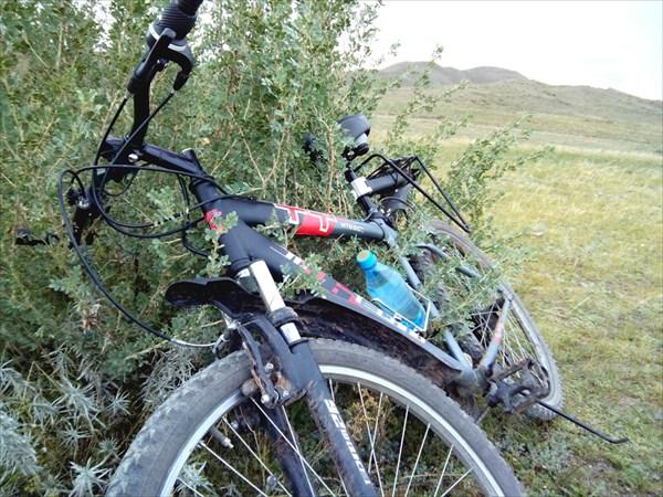 Велосипед устал.