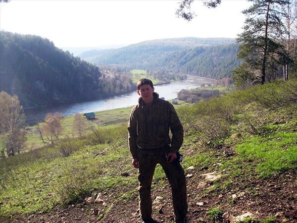 """Вид от пещеры """"Сказка"""" на долину реки"""