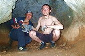Вера и житель пещеры)))