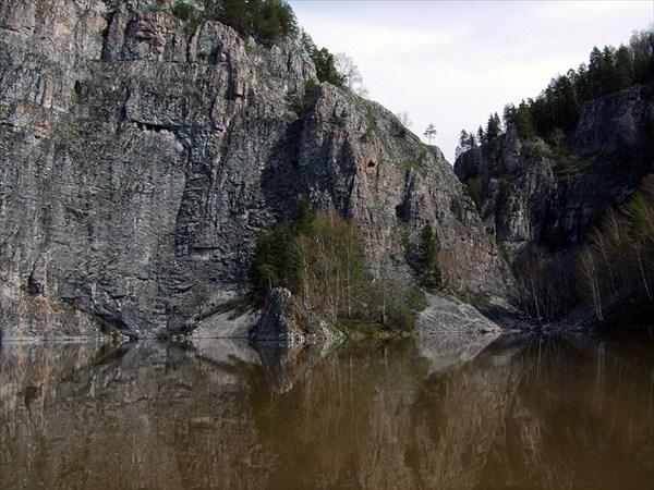 Сакасска. Здесь было Голубое озеро.