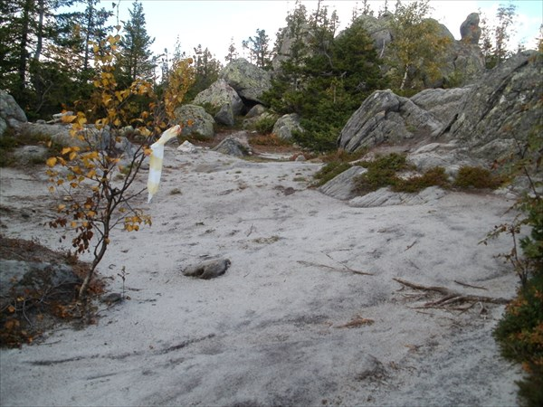 Белые песчаные дорожки