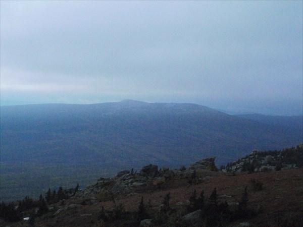 Гора Ицыл, вид с Дальнего Таганая