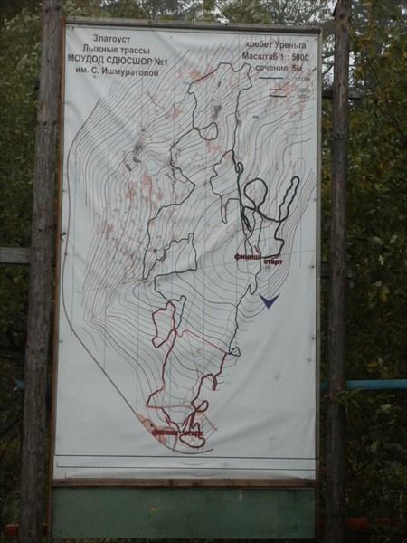 Схема лыжных трасс на Уреньге