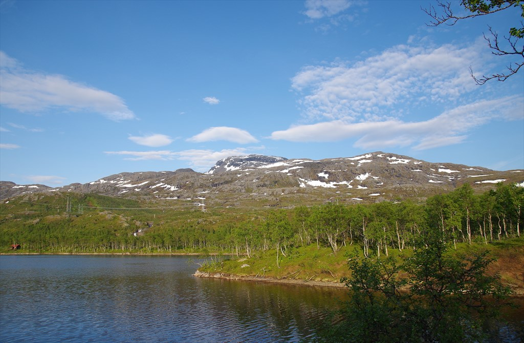 Оз.Storvatnet перед Bjerkvik'ом