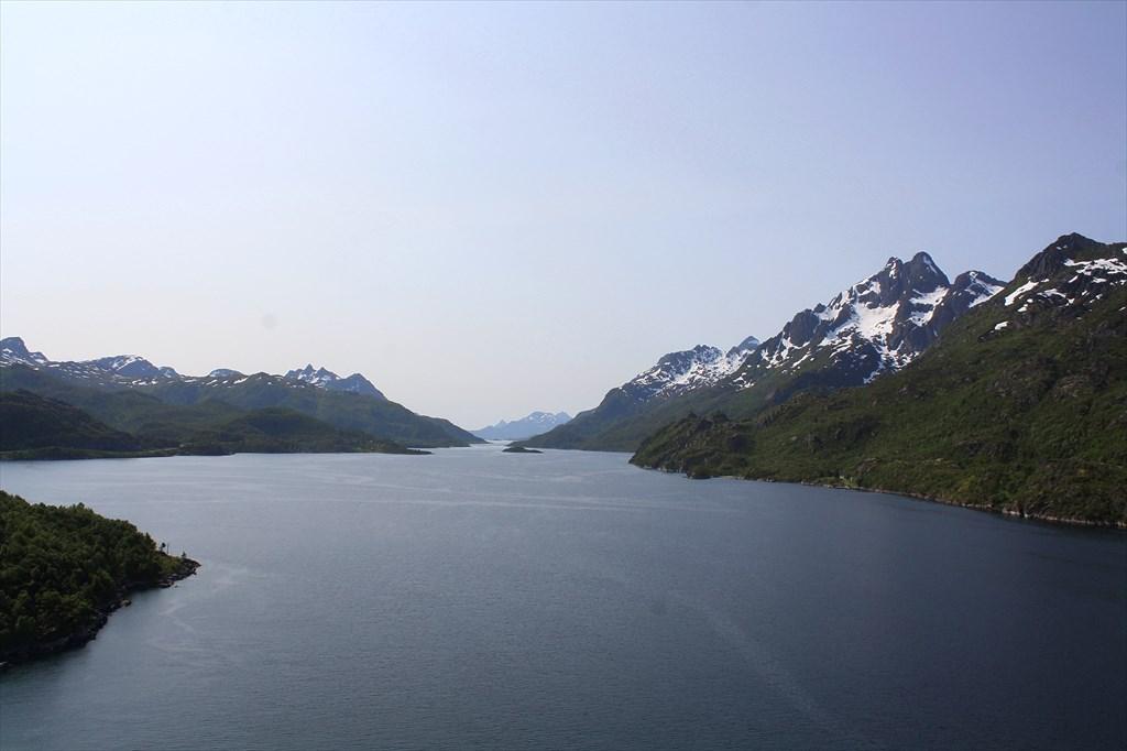 Пролив Raftsund с моста Raftsundbru