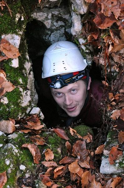Дима Коротков в пещере Белки