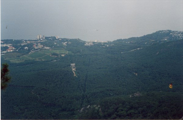 Гора Ай-Петри, вид на канатную дорогу, 1234 метра