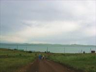 дождь над озером Шира