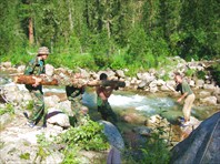 наведение переправы через реку Малый Тайгешонок