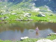 тёплое озеро высоко в горах