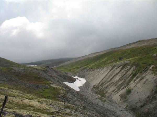 Наверх на плато