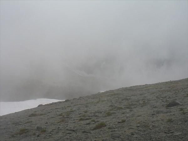 Дорога в облаках к оз. Академическое