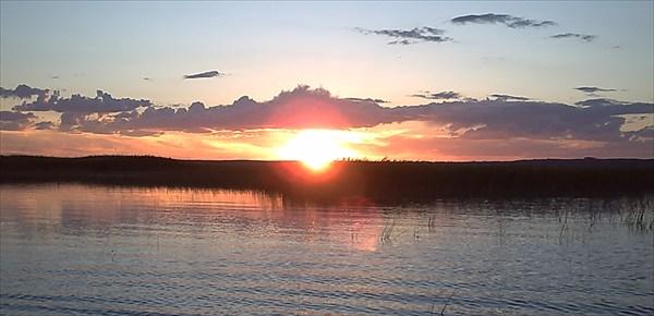 Закат в заливе малый сарышаган