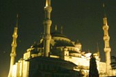 Голубая мечеть, ночь