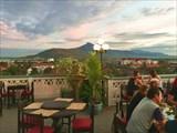 Вид на Паксе из ресторана на крыше