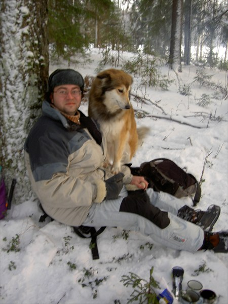 на фото: Непосед и пёс