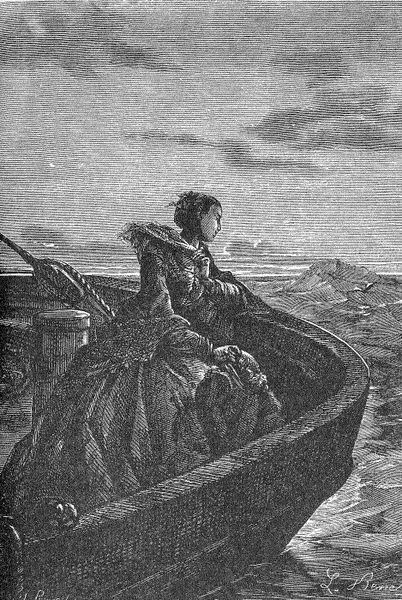 Мисс Ауда на корабле