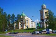 Деревянная церковь и колокольня в Керимяки