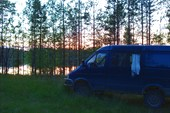 Стоянка на безымянном озере.