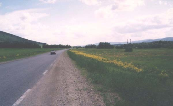 Южный Урал. Дорога после деревни Мухаметово