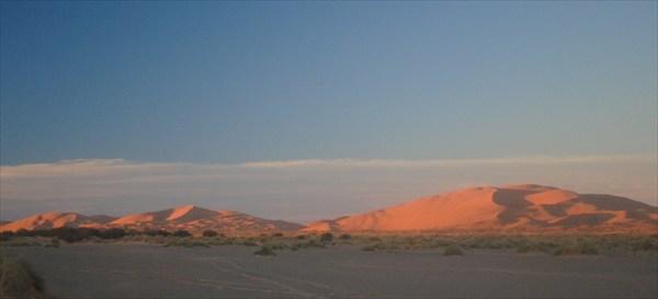 дюны на восходе