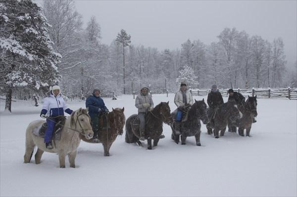 Новогодний 2013 года конный поход