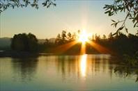 Фото 47. Рассвет на реке Кабанья