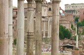 Римский Форум. Руины Храма Сатурна.