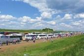 Здесь было более 4000 автобусов со всей России и зарубежья