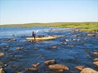 Исток Рынды из Корозера,воды мало.