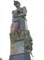 """10 Памятник шахтеру """"Горящее сердце"""""""