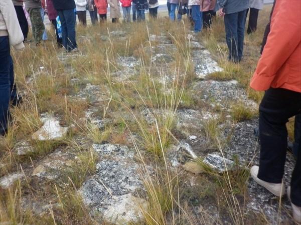 Остатки фундаментов древних городовна территории Хакасии