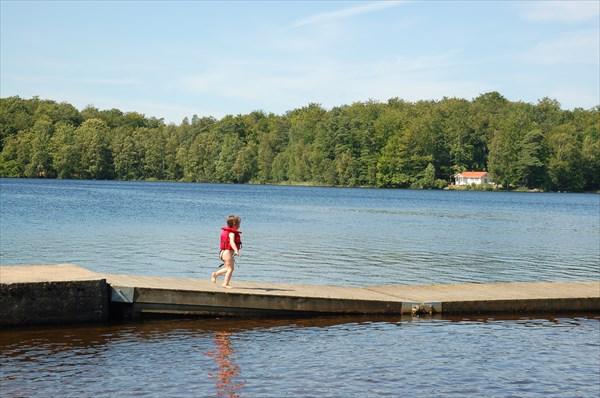 Прекрасное озеро да и с погодой повезло!