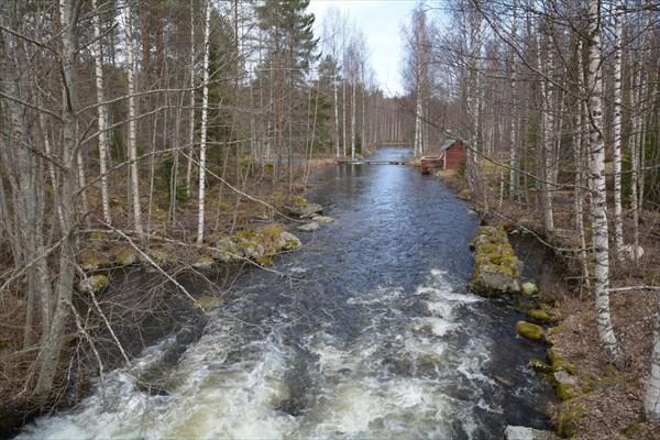Типичный красный финский домик