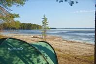 Еще не растаявшее озеро Pielinen