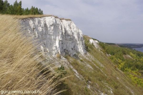 на фото: Меловые скалы