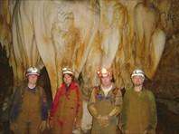Джилл, я, Стив и Микки возле Свадебного пирога