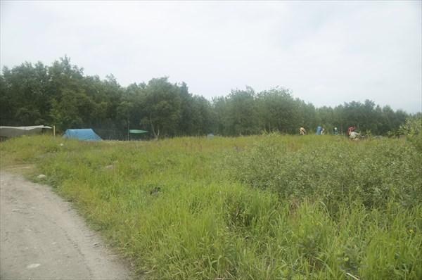 Так выглядит палаточный городок