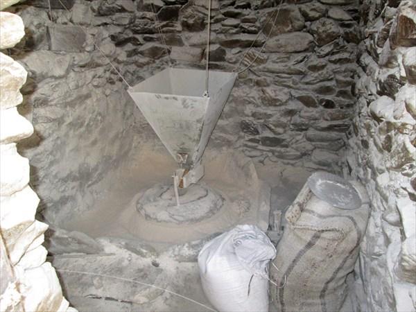 Жернова водяной мельницы