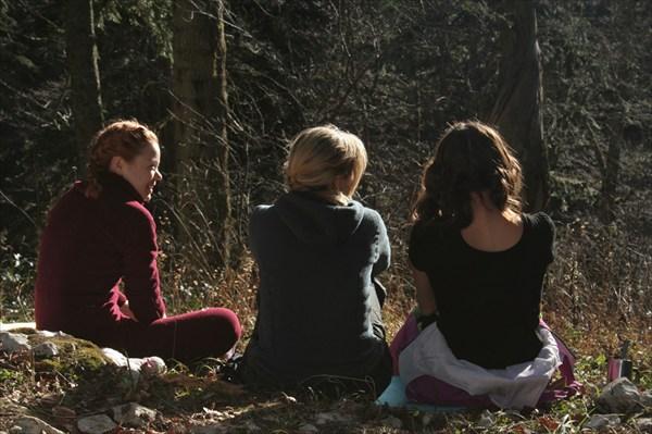 три девицы на солнышке