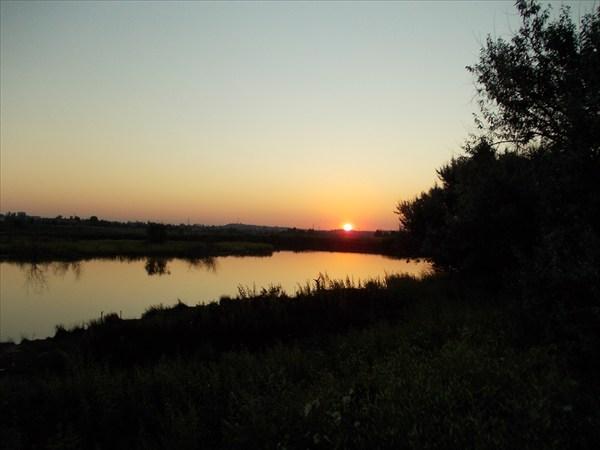 Закат на гусином пруду