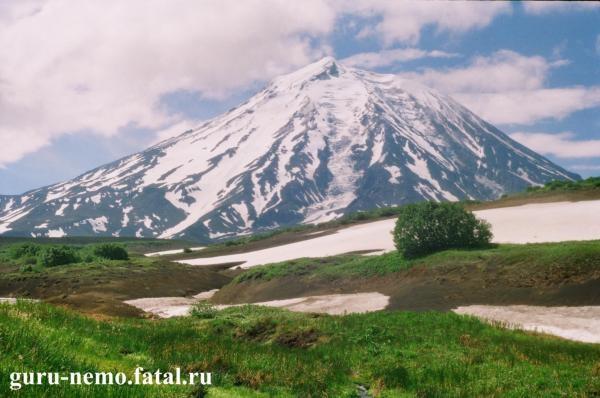 на фото: Корякский вулкан