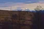 По дороге на Домбай (уже видны снежные вершины)