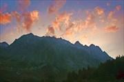 горный закат