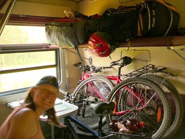 Велосипеды в поезде