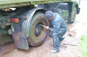 Ремонт колёс в пути