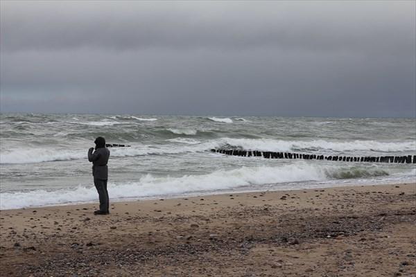 Когда-то на побережье вымывало янтарь..