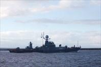 Военный корабль в Балтийском проливе